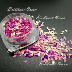 Sparkle Water-Drop Shaoe Glitter lentejuelas para decoración de la belleza de uñas