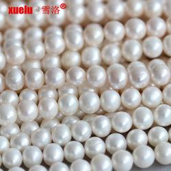 9-10mm redondo Collar de perlas de agua dulce proveedor mayorista de material (E180015)
