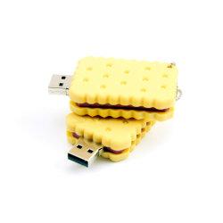 محرك أقراص USB محمول بسكويت 4 جيجابايت Food Cookies Memory Stick