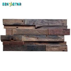 Diseño en 3D de pino de azulejos de pared Pared de madera para decorar el hogar