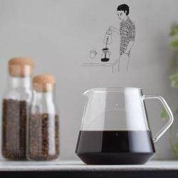 방열 유리제 커피 서버 세트, 유리제 커피 남비
