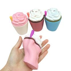 Squishy pu ralentir la hausse de la crème glacée Squishies la Coupe du jouet de paille
