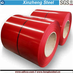 Ral 0.14-0.25mm PPGI Prepainted bobinas de acero para techos hoja