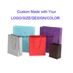Custom Logo Printing Luxury Apparel Packaging Promotion machine biologisch afbreekbare mode Handle Shopping Paper Cadeautassen