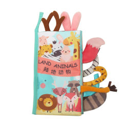 ファブリックジャングルの赤ん坊の印刷の物語によって詰められるかわいく小さいパンダのプラシ天のおもちゃ