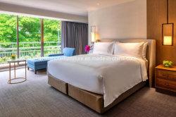 Doppia mobilia di legno personalizzata moderna di lusso della camera da letto dell'hotel
