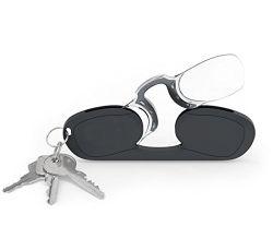 Нос зажима отдыхая прямоугольные стекла чтения бумажника Keychain