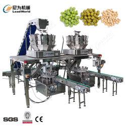 新鮮な野菜の缶詰にされた混合された野菜のにんじんのスイートコーンのグリーンピースの豆の自動缶詰になる生産工場