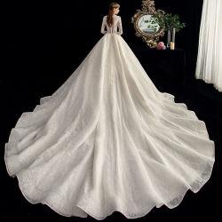 2020 Slveel dentelle haute qualité à long col en V Robe de mariée