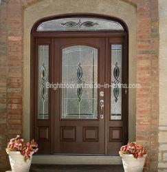 広州の製造者の機密保護の手によって切り分けられるアーチの木のドア