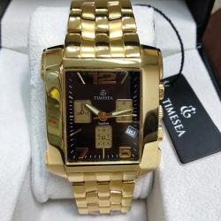 Fashion Square Bracelet en acier inoxydable personnalisé montre avec Ronda mouvement (72915)