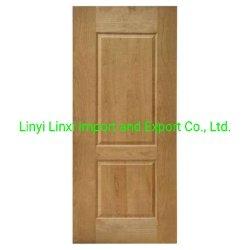 Sapele Natural/Oak/Ash/chapas de madera de teca HDF moldeado para Decoretion piel de la puerta y puerta.