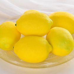 La decoración de la casa de frutas artificiales poliespuma artificial de limón
