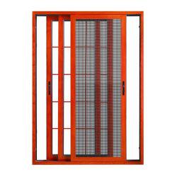 Vidro corrediço de baratas na janela de Metal Design churrasqueiras com rede mosquiteira