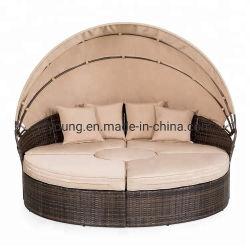 Плетеную мебель для загара раунда шезлонге водонепроницаемый Бич стул сад устанавливает