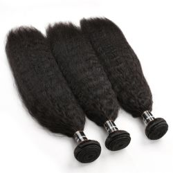 La trama crespa 100% dei capelli umani di Remy di alta qualità diritto impacchetta l'estensione dei capelli diritti di Yaki