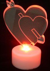 색깔 LED 아크릴 심혼 크리스마스 축제 훈장을 불이 켜지십시오