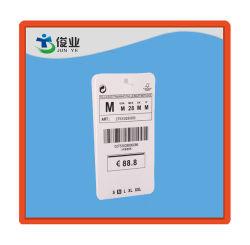 Прозрачный пластиковый штрих-кодов Печати повесить теги индексов для одежды