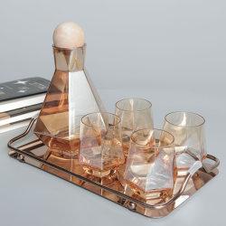 Contenitore di vetro stabilito di lusso del contenitore di regalo del vino di sublimazione della chiavetta del vino di vetro del vino rosso