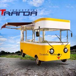Fabrieksprijs Electric 4 Wheels Food Bus Vintage Food Car Te Koop Europa Food van Coffee Hot Dog ijs Mobiele vrachtwagen voor voedingsmiddelen