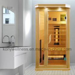 Weites Infrarot-Sauna-Kabine-hölzernes Wärmer-Gerät für vollständige Karosserien-Gebrauch, trockener Bad-Sauna-Raum als heißes Therapie-Wärmer-Gerät