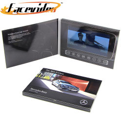 Видео High-end поздравительные открытки поставщик 7 дюймовый ЖК-экран TFT дисплей записываемых Электронная брошюра брошюра для автомобиля Мотор Шоу