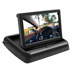 Tela carro motorizado de 4,3 polegadas Dobrável Flip Down Carro de texto Monitor CCTV