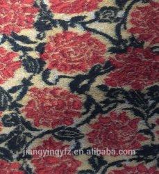 Лучше всего на заводе полиэфирные ткани для вязания шерсть жаккард Ткань стретч Top-Dyed высокого качества