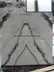 Matériaux de construction 80X160cm Fs vitrage porcelaine poli en bois rustique en pierre naturelle des revêtements de sol en marbre complet du corps décoration céramique Salle de bains carrelage mural