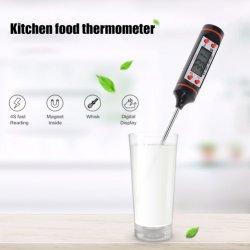 Тип линии Большой светодиодный дисплей цифровой термометр для мяса Wireless термометра Tp101