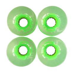 Vente chaude lumière LED transparentes Skateboard circonscription les roues de skateboard Longboard durables