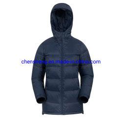 스톡 도매 OEM 스트리트 웨어 여성용 패셔너블한 퍼퍼 재킷 네이비 블루/풀 슬리브 퍼퍼 재킷(걸즈