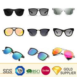 Commerce de gros logo personnalisé Fashion nouvelle marque de Sport Lunettes de soleil polarisées de Métal en plastique recyclé Unisex Cat Eye PC Femmes acétate Lunettes de soleil pour cadeau de promotion de châssis