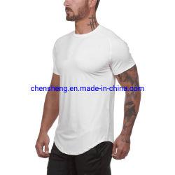 Повседневный спандекс /полимерная короткие втулки спорт играет работает рубашки фитнес-спортивная тренировка мужчин сетка спортзал футболки на заказ