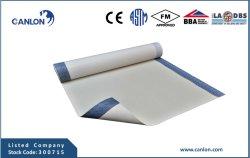 De HDPE trava-ou Cold-Applied membrana impermeável auto-adesivos (com cola ziplap)