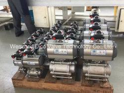 3PC Thread pneumatique Vanne à boisseau sphérique avec boîtier de commutateur de limite