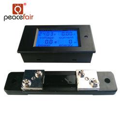 Peacefair Gleichstrom-Strom-Spannungs-Energien-Energie-Digital-Panel-Amperemeter-Voltmeter mit Shunt 50A
