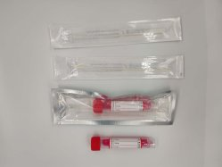 Kit com swab Vtm para amostragem do tubo de transporte viral com cotonete
