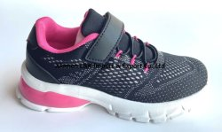 베스트 셀러 탄성 밴드 벨크로 3D 메시 플라이니트 갑피 저렴함 스포츠 신발 어린이용 캐주얼 신발
