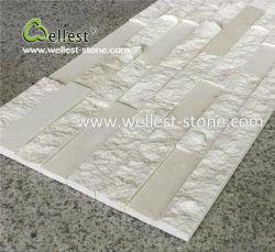 Haut de gamme polonais 3D+Split Corniche de pierre de calcaire blanc pour la fonction mur
