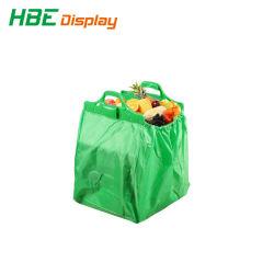 حقيبة حامل عربة التسوق القابلة للطي اليدوية المصنوعة من البوليستر