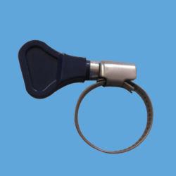 Aço inoxidável 203/430 9mm Band e carcaça de aço carbono Zinc-Plated Worm de parafuso do Acionamento da Engrenagem tipo GM as Braçadeiras de Mangueira com pega de plástico