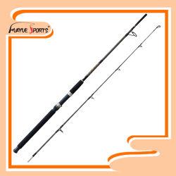 1,95 m en fibre de verre solide 2PCS Spinning Canne à pêche
