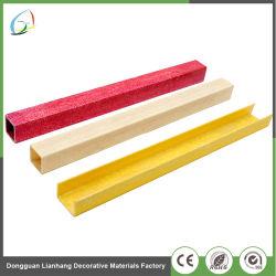 Los perfiles de FRP pultrusión/ tubo cuadrado de fibra de vidrio.