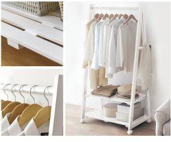 Style de pliage mobile Hanger le crochet de rangement ménage étagère simple