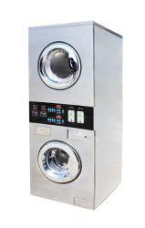 Edelstahl-Selbstbedienung-stapelbarer Unterlegscheibe-Trockner für Wäscherei-Geschäft
