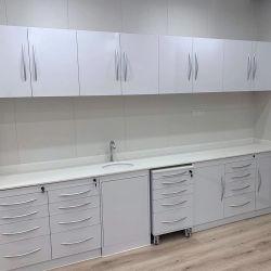 Montage mural en acier inoxydable OEM Clinique dentaire de l'armoire de combinaison