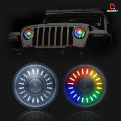 Kleur die de Koplamp van Chroom 7 voor off-Road Koplamp van de Jeep met Lens ruilen