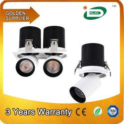 Ajustable decorativos dos jefes de la parrilla de mazorca comercial 12W 25W 50W COB Flexible de LED de iluminación de proyecto