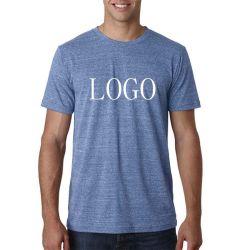 カスタム人のヒースカラーポリエステルレーヨン綿の多TriblendのブランクTシャツ
